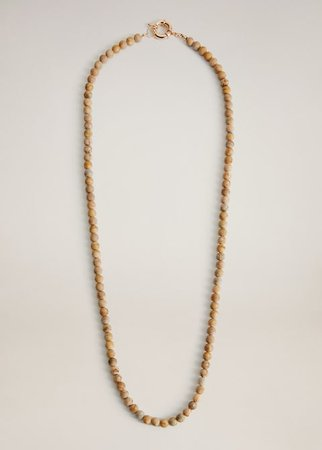 Chain tassel necklace - Women | Mango USA gold