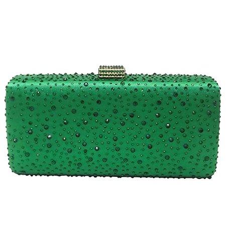 Elegant Women Green Crystal Clutch Evening Bags Wedding Cocktail Box Handbag Purse: Handbags: Amazon.com