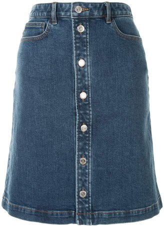 Therese buttoned denim skirt