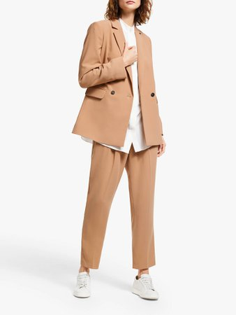 Modern Rarity Longline Tailored Jacket, Natural at John Lewis & Partners