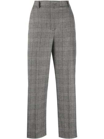 Boutique Moschino Straight Leg Check Pattern Trousers - Farfetch