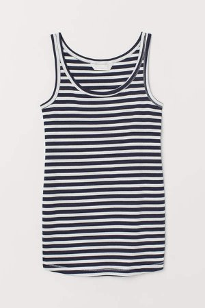 MAMA Ribbed Tank Top - Blue