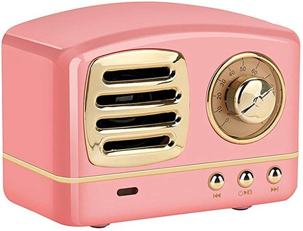 Retro Wireless Speakers,Teepao Portable Rechargeable Handheld Multi-Function Wireless Speaker,Handsfree Call,AUX Line, USB Flash Drive, TF Card/Micro SD Card,with HD Sound & Bass Fm,Pink: Amazon.ca: Electronics