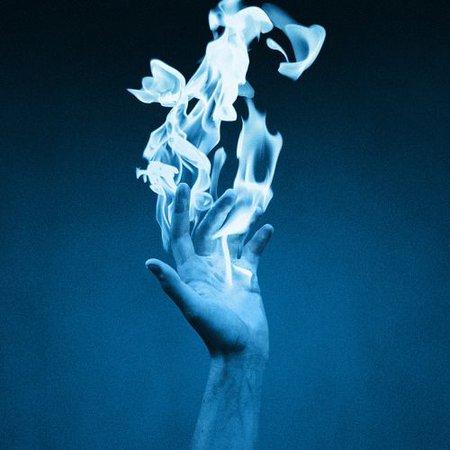 magic blue flame