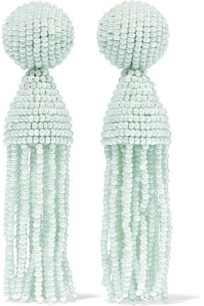 Gold-tone crystal earrings | OSCAR DE LA RENTA | Sale up to 70% off | THE OUTNET