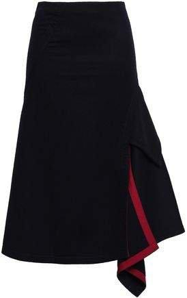 Asymmetric Pleated Wool-felt Skirt