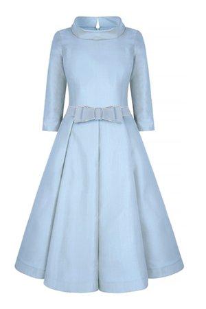 Suzannah Silk Gazar Obsession Ballerina Dress in Cinderella Blue