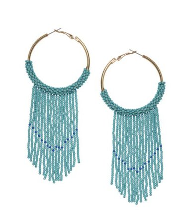 Sole Society Beaded Hoop Fringe Earrings | Sole Society Shoes, Bags and Accessories