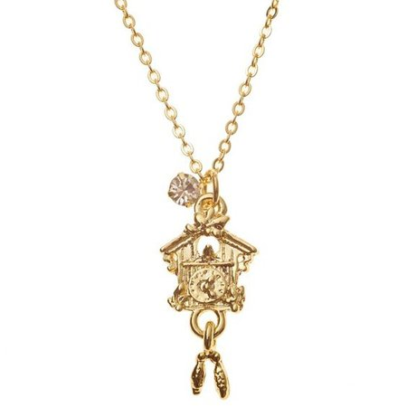 cuckoo clock necklace