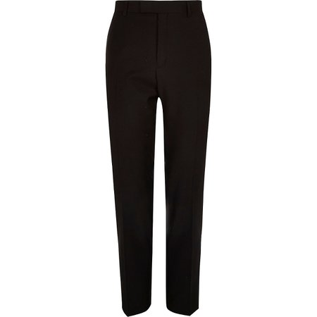 Black skinny fit suit trousers | River Island
