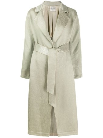 Forte Forte, Trench Green Satin Coat