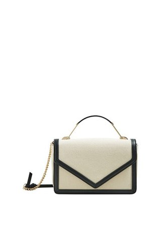 MANGO Contrast trim bag
