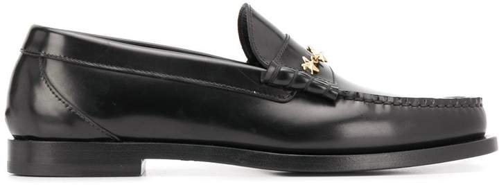 Mocca leather loafers