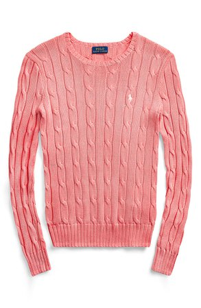 Polo Ralph Lauren Cable Knit Sweater | pink