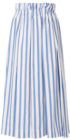 Striped Print Midi Skirt