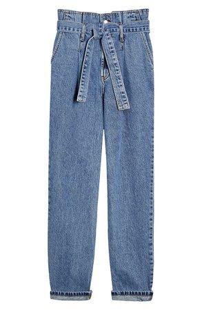 Topshop Paperbag Waist Mom Jeans | Nordstrom