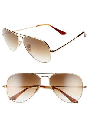 Ray-Ban 58mm Aviator Sunglasses | Nordstrom