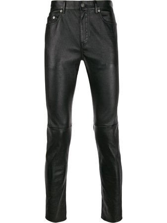 Saint Laurent Skinny-Fit Leather Trousers Ss20
