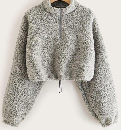 grey teddy bear sweatshirt