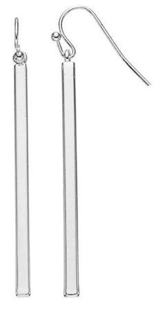 Silver Bar Earring