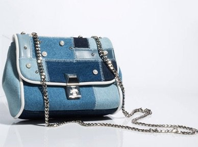 denim patchwork purse|| shopakira