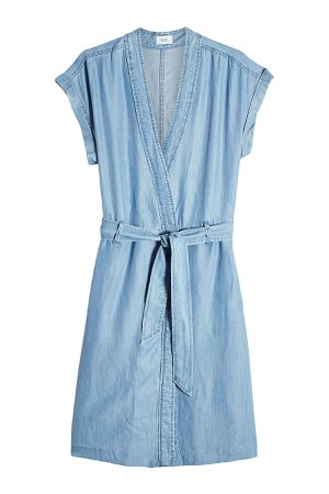 Chambray Dress with Belt Tie Gr. XL