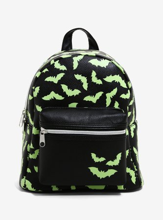 Bats Glow-In-The-Dark Mini Backpack