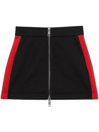 BURBERRY  Logo Detail Neoprene Mini Skirt