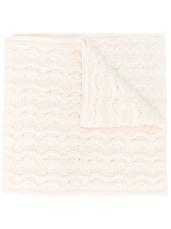ShopAgnona cable knit cashmere scarf with Express Delivery - Farfetch