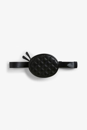 Quilted fanny pack - Black magic - Bags, wallets & belts - Monki IT