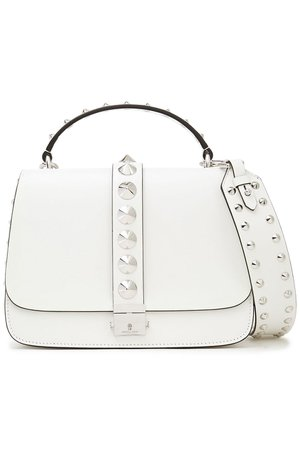 White Studded leather tote   MICHAEL KORS COLLECTION