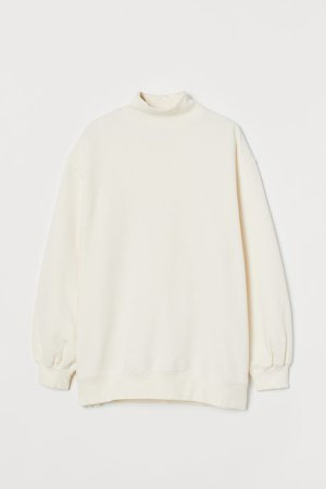 Oversized Sweatshirt - White