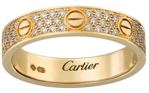 Cartier | LOVE Wedding Band, diamond-paved – Yellow Gold