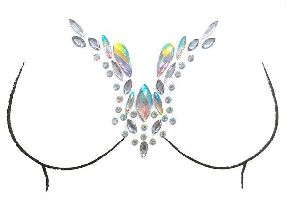 Gems Stickers Breast Body Jewelry Stickers Crystal Nipple Tattoo Stickers for Festival Rhinestone Decorations   Souq - UAE
