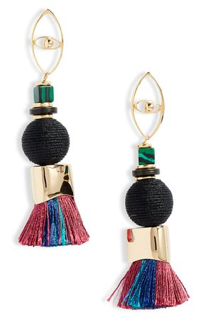 Nectar Nectar Stone, Bead & Tassel Earrings | Nordstrom