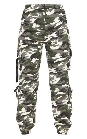 Tall Grey Camo Pocket Detail Cargo Trousers | PrettyLittleThing USA