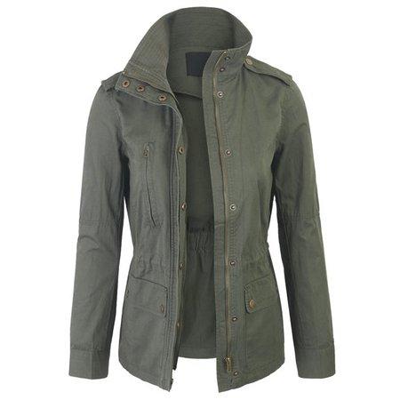 KOGMO - KOGMO Womens Zip Up Military Anorak Safari Jacket Coat - Walmart.com - Walmart.com