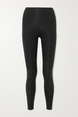 Calypso Stretch Organic Pima Cotton-jersey Leggings - Black