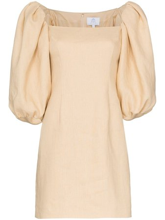 Rebecca De Ravenel Puff Sleeve Dress - Farfetch