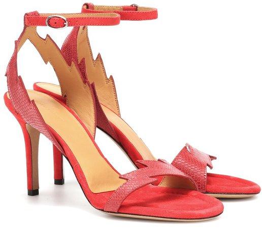 Allistee embossed leather sandals