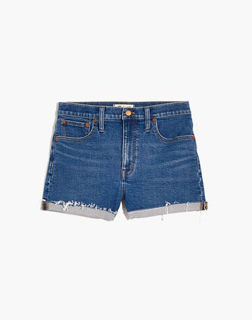 High-Rise Denim Shorts in Auckland Wash