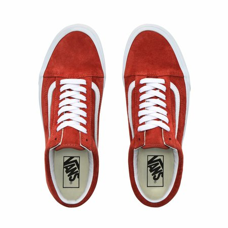SÜET OLD SKOOL AYAKKABI - (Pig Suede) Burnt Brick/True White - Vans TR