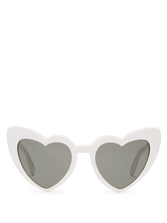 Loulou heart-shaped acetate sunglasses | Saint Laurent | MATCHESFASHION.COM US