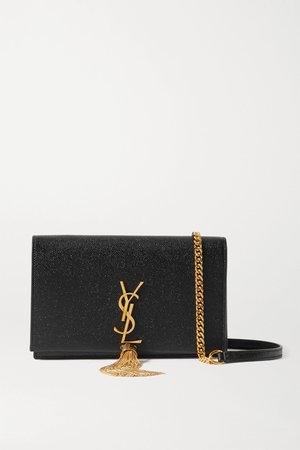 Black Kate textured-leather shoulder bag | SAINT LAURENT | NET-A-PORTER