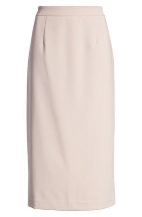 Halogen® Stretch Twill Pencil Skirt (Regular & Petite) | Nordstrom
