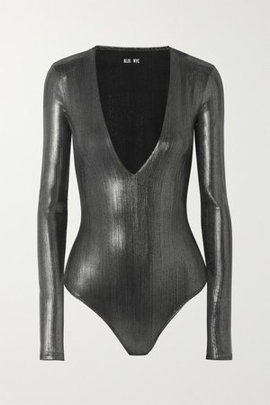 Alix NYC   Stretch-lamé bodysuit   NET-A-PORTER.COM
