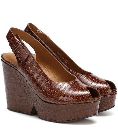 Always leather plateau sandals