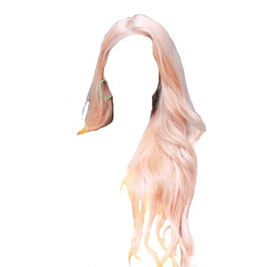 Blonde Pink Hair PNG