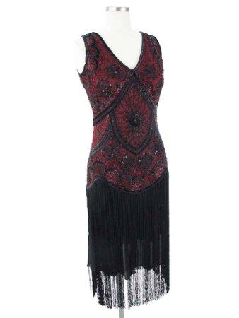 20s black flapper dress