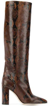 snakeskin effect boots